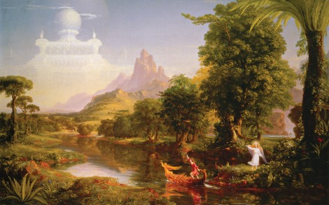 The Voyage of Life Youth by Thomas Cole (Click to Enlarge)2